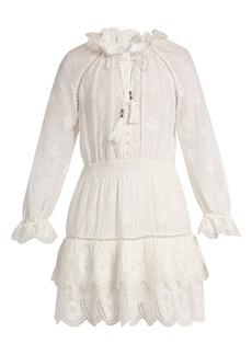 Zimmermann Tulsi broderie-anglaise cotton-blend dress