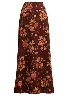 Zimmermann Unbridled Contour floral-print skirt