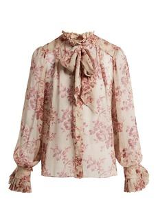 Zimmermann Unbridled floral-print silk blouse