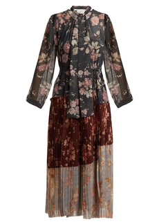 Zimmermann Unbridled Pleated floral-print crepe dress