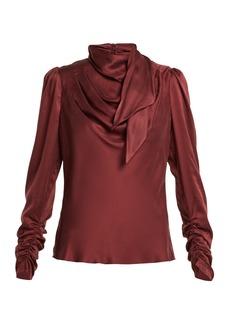 Zimmermann Unbridled silk-satin blouse