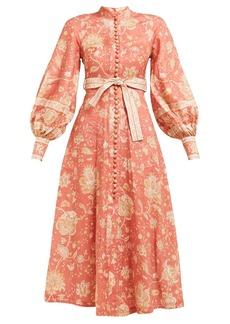 Zimmermann Veneto Border paisley-print linen dress