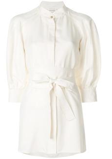 Zimmermann waist-tied shirt dress - Nude & Neutrals