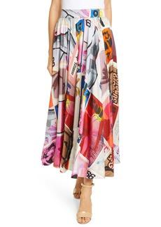 Zimmermann Wavelength Print Silk Maxi Swing Skirt