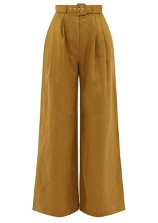 Zimmermann Wavelength wide-legged linen trousers