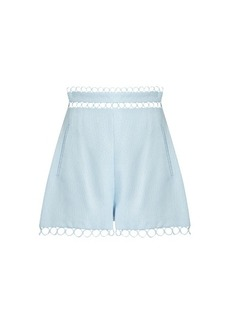 Zimmermann Winsome circle-lace shorts