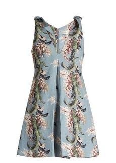 Zimmermann Winsome floral-print linen trapeze dress