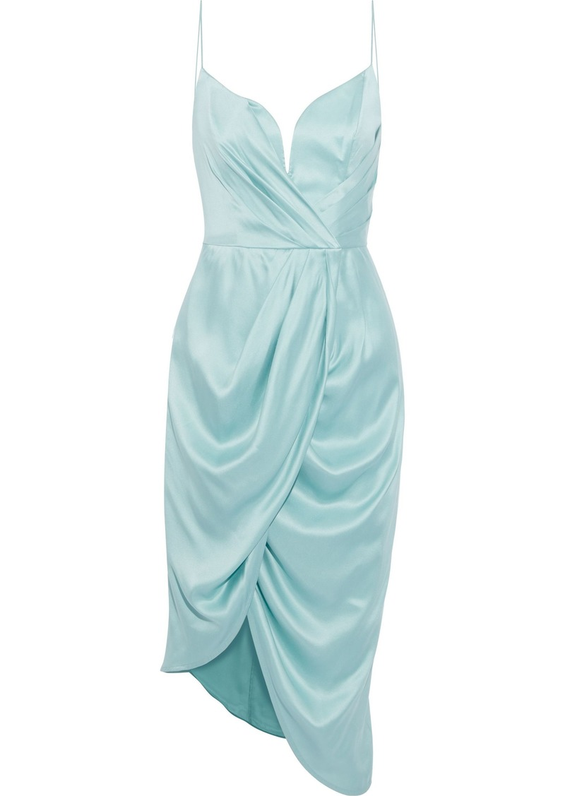 Zimmermann Woman Asymmetric Wrap-effect Washed-silk Dress Mint
