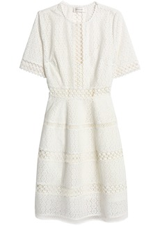 Zimmermann Woman Broderie Anglaise Cotton Dress White