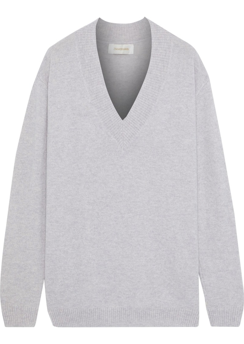 Zimmermann Woman Cashmere Sweater Light Gray