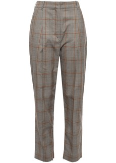 Zimmermann Woman Checked Stretch-cotton Tapered Pants Sand