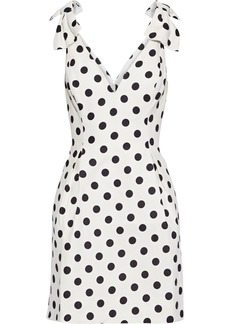 Zimmermann Woman Corsage Bow-embellished Linen Mini Dress Off-white