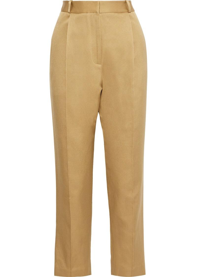 Zimmermann Woman Cotton-blend Twill Tapered Pants Mustard