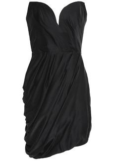 Zimmermann Woman Draped Washed Silk Mini Dress Black