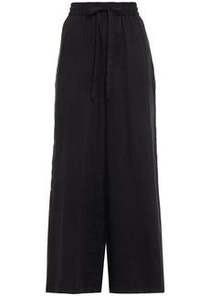 Zimmermann Woman Edie Ramie Wide-leg Pants Black