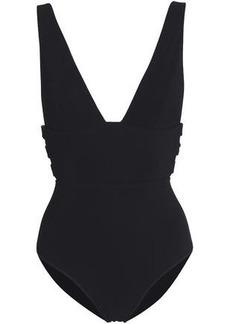 Zimmermann Woman Embellished Cutout Swimsuit Black