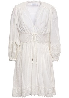 Zimmermann Woman Embroidered Fil Coupé Cotton Mini Dress Ivory