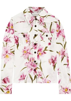 Zimmermann Woman Floral-print Cotton Shirt White