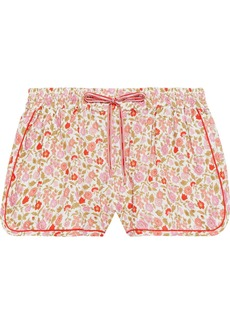 Zimmermann Woman Goldie Floral-print Linen And Cotton-blend Shorts Ivory