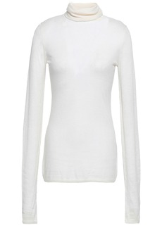 Zimmermann Woman Knitted Turtleneck Top Ivory