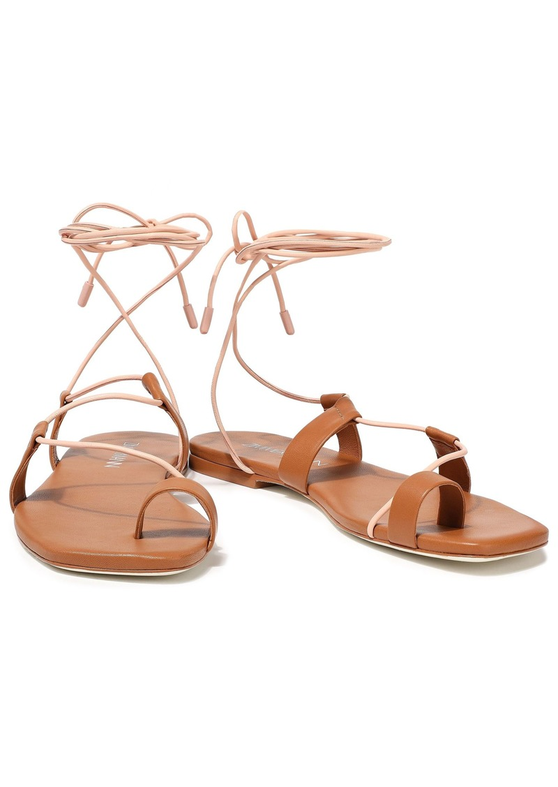Zimmermann Woman Lace-up Leather Sandals Tan