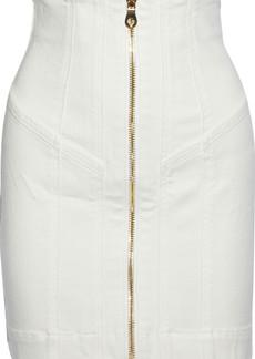 Zimmermann Woman Paneled Denim Mini Skirt White