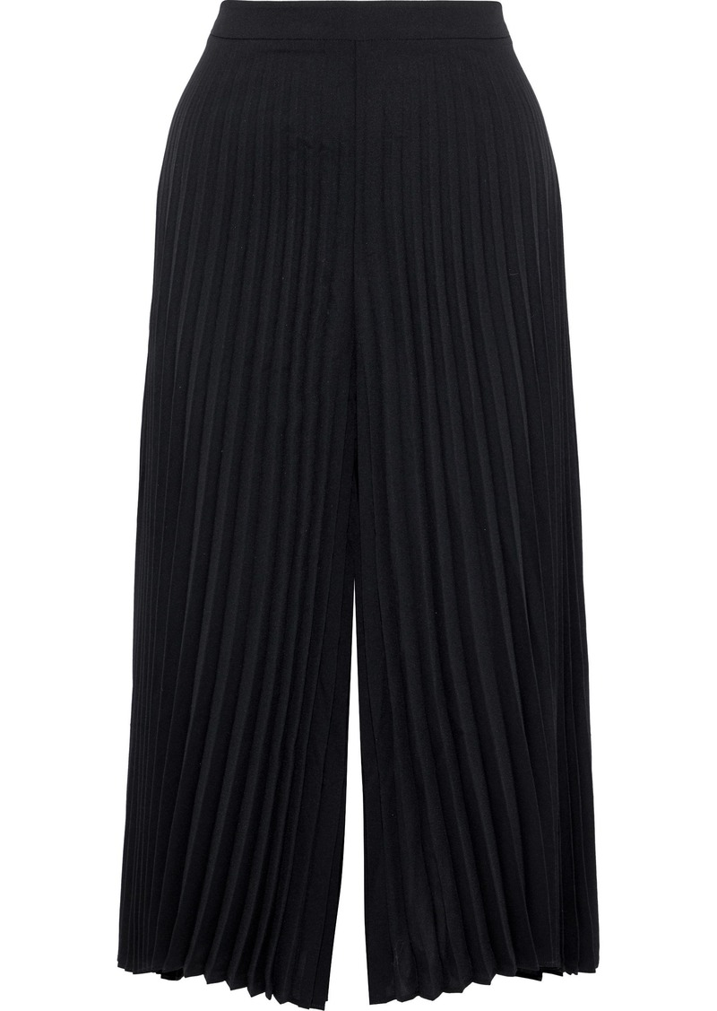 Zimmermann Woman Pleated Washed-crepe Culottes Black