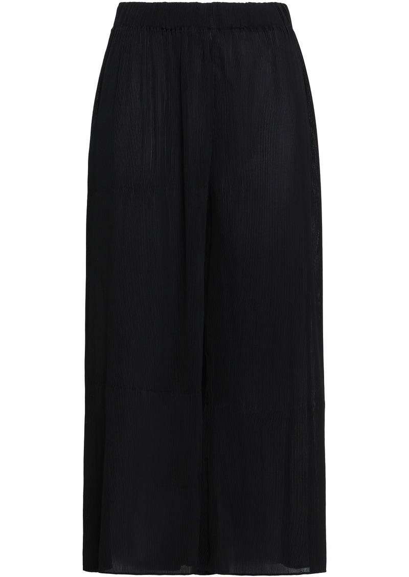 Zimmermann Woman Plissé-crepe Culottes Black