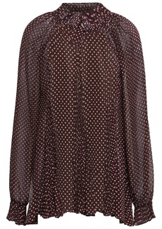 Zimmermann Woman Polka-dot Crepe Blouse Burgundy