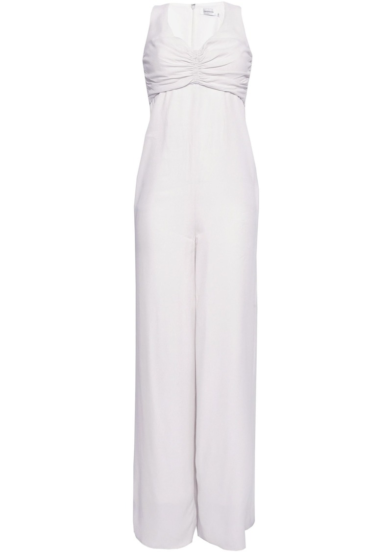 Zimmermann Woman Ruched Crepe Jumpsuit Ivory