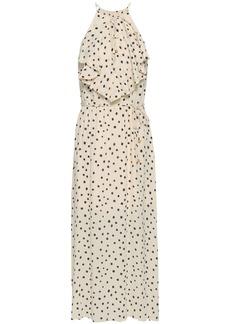 Zimmermann Woman Cascade Ruffle-trimmed Printed Crepe Midi Dress Cream