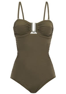 Zimmermann Woman Separates Sculpt Link Bandeau Swimsuit Army Green