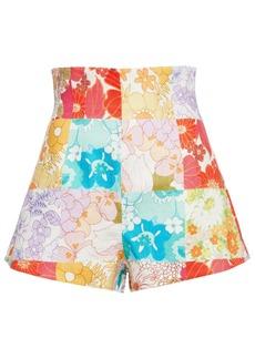Zimmermann Woman Bells Floral-print Linen Shorts Multicolor