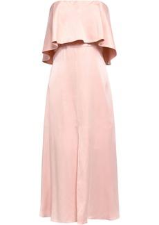 Zimmermann Woman Strapless Layered Washed-silk Midi Dress Pastel Pink