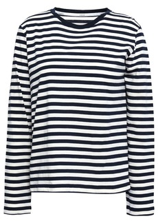 Zimmermann Woman Striped Cotton-jersey Top Ecru