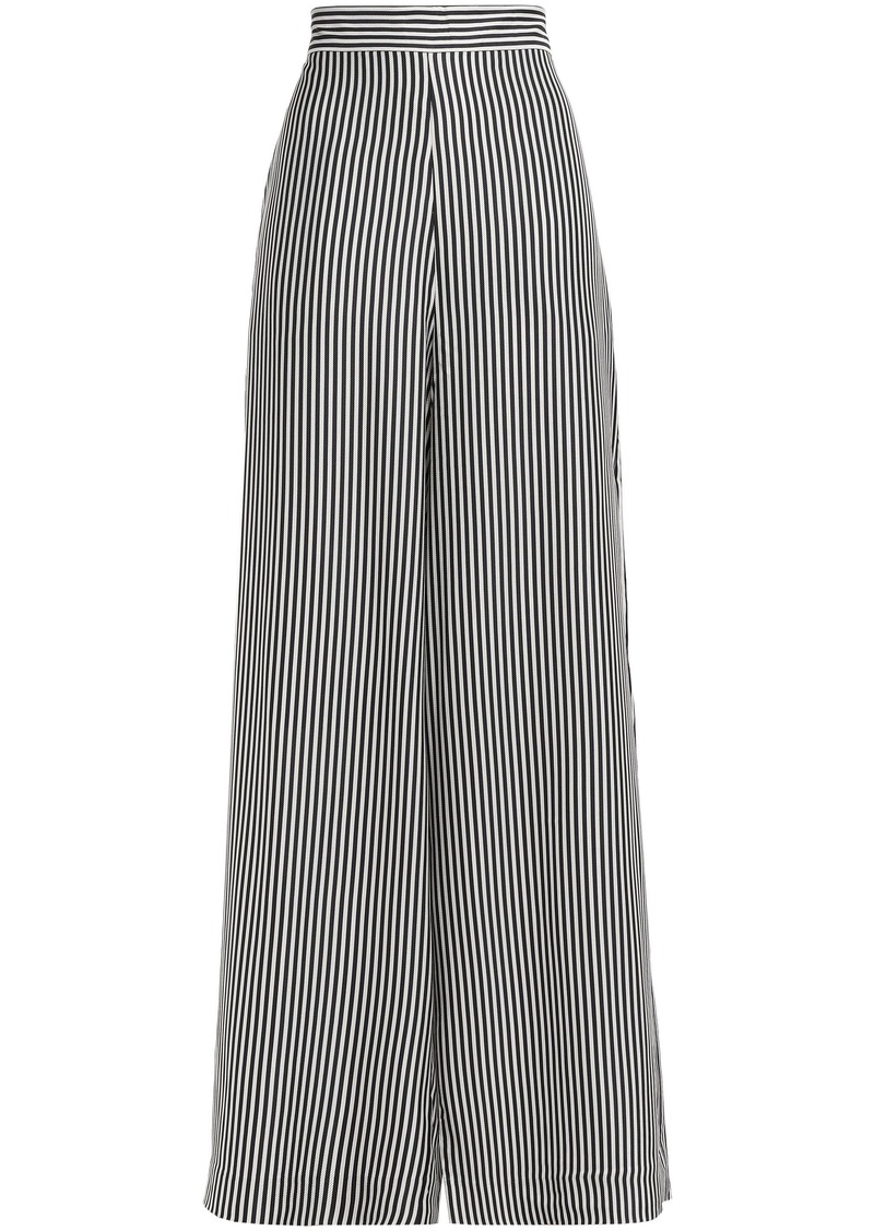 Zimmermann Woman Striped Twill Wide-leg Pants Charcoal
