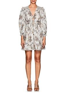 Zimmermann Women's Bayou Floral Linen Corset Dress