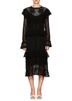 Zimmermann Women's Castile Floral Cotton Crochet Maxi Dress
