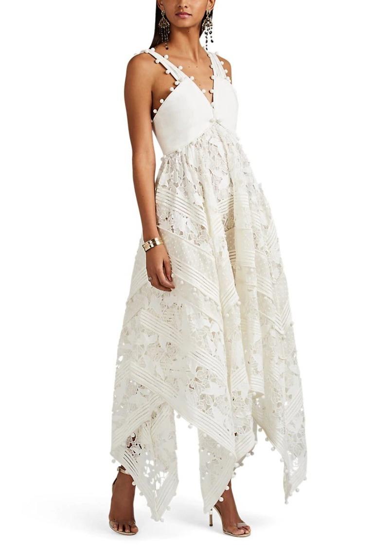 b4f47fc0940a Zimmermann Zimmermann Women's Corsage Embellished Silk-Cotton Midi ...