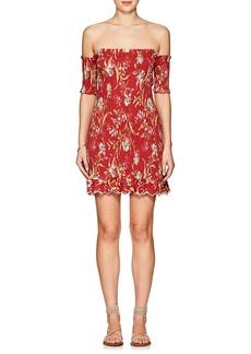 Zimmermann Women's Corsair Floral Linen-Cotton Dress