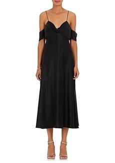 Zimmermann Women's Drape Silk Charmeuse Slip Midi-Dress