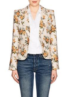 Zimmermann Women's Floral Linen Canvas Single-Button Blazer