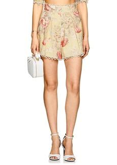 Zimmermann Women's Floral Linen-Cotton Shorts