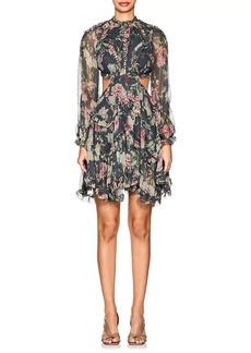 Zimmermann Women's Iris Floral Silk Open-Back Dress