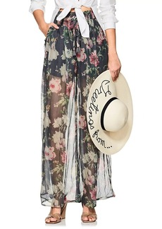 Zimmermann Women's Iris Floral Silk Wide-Leg Pants