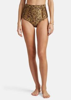 Zimmermann Women's Juniper Floral High-Waist Bikini Bottom