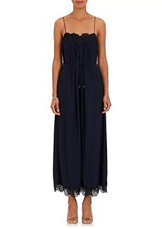 Zimmermann Women's Lace-Trimmed Crepe Cami Jumpsuit