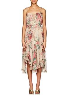 Zimmermann Women's Laelia Floral Silk Tiered Dress