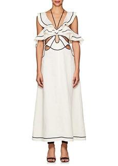 Zimmermann Women's Linen Cutout Maxi Dress