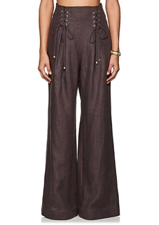 Zimmermann Women's Linen Wide-Leg Pants